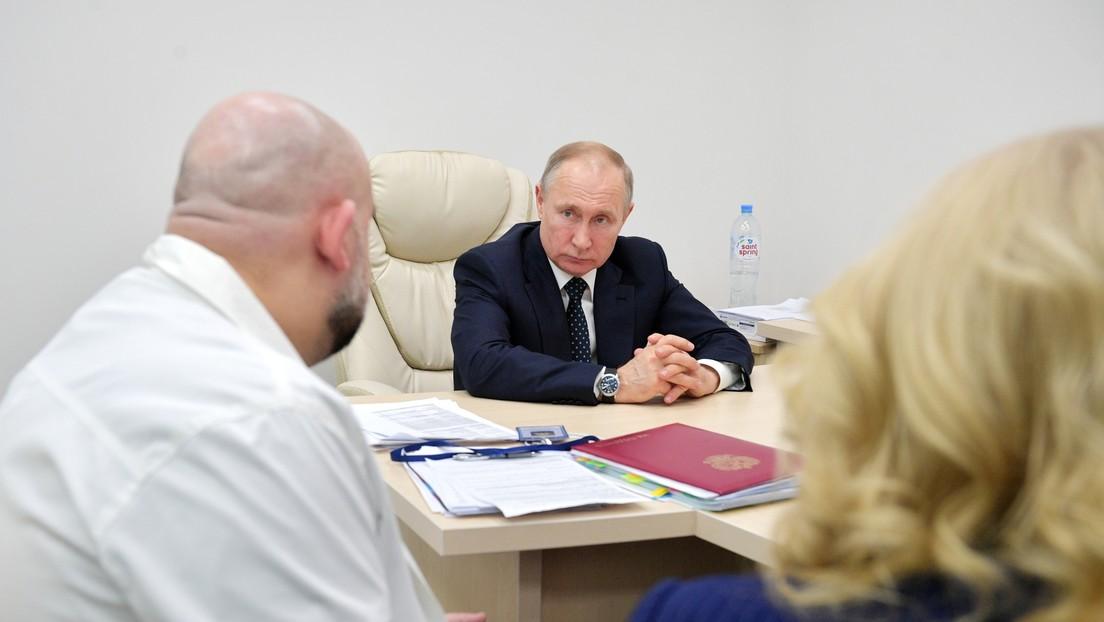 Putin declara que Rusia ha superado el pico de contagios de coronavirus