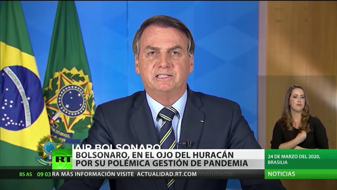 Bolsonaro, en el ojo del huracán por su polémica gestión de la pandemia del covid-19
