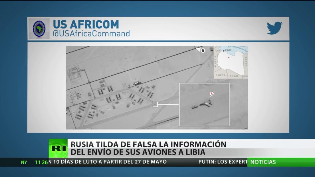 Rusia tilda de falsa la información sobre el envío de aviones militares a Libia