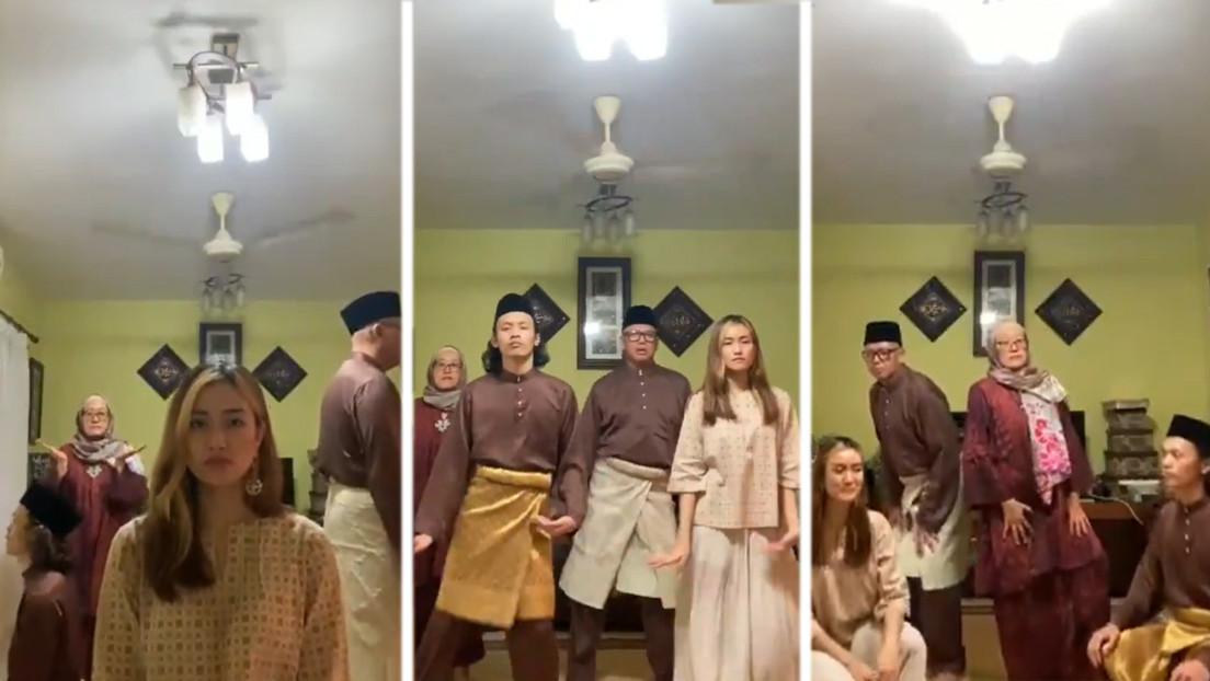 VIDEO: El baile de esta familia malasia no cesa de ganar corazones