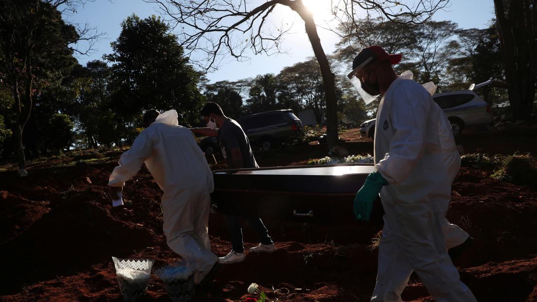 Brasil vuelve a superar las 1.000 muertes por coronavirus en un día y acumula más de 24.500 fallecidos