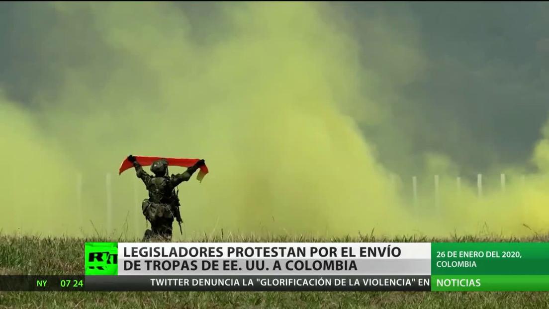Colombia: Legisladores protestan por el envío de tropas de EE.UU.
