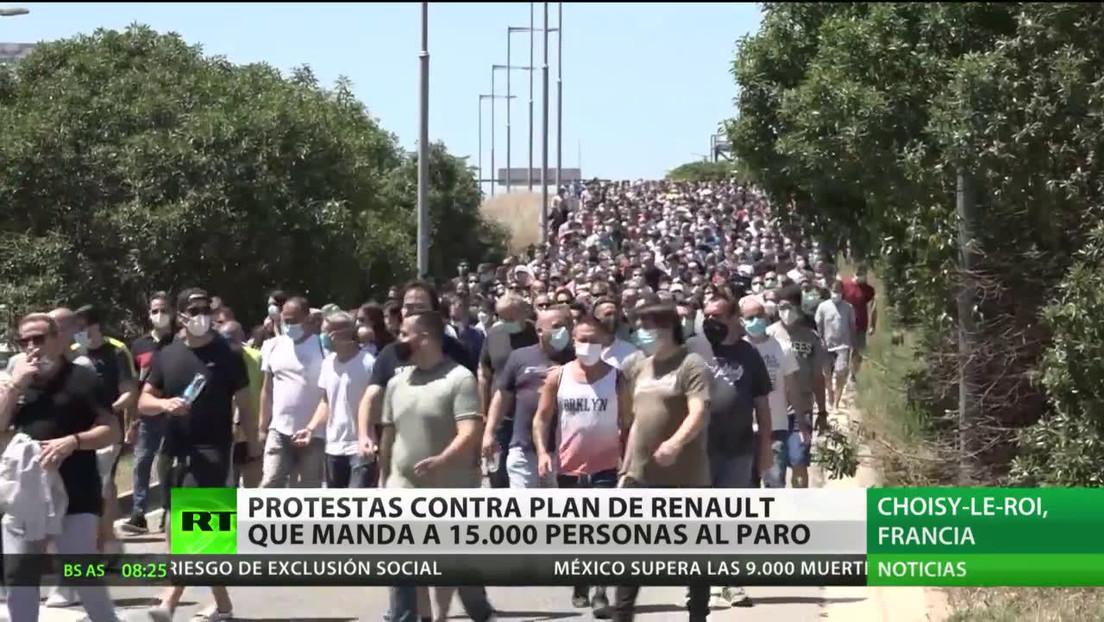 Protestas en Francia contra el plan de Renault de suprimir 15.000 empleos en el mundo