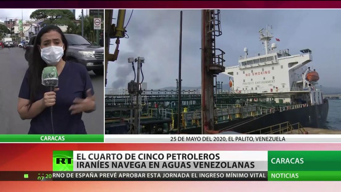 Llega a aguas venezolanas un cuarto buque iraní con petróleo