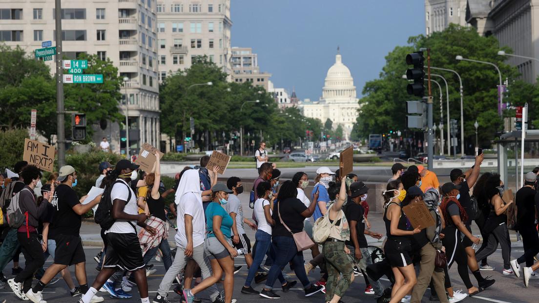 Cierran la Casa Blanca en medio de protestas en Washington por la muerte de Floyd (FOTOS, VIDEOS)