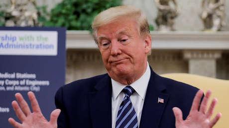 """""""Me pregunto si es real"""": Trump cuestiona las imágenes de ovnis publicadas por el Pentágono"""