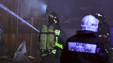 Rusia: Al menos 5 personas mueren en un incendio en un hospital para pacientes con covid-19 en San Petersburgo