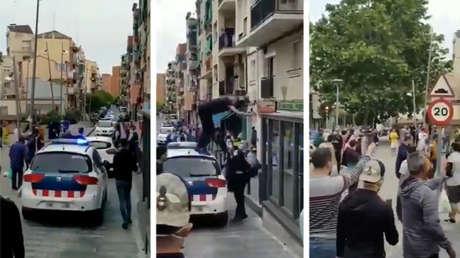 Una multitudinaria pelea en España involucra a 100 vecinos de un barrio de Badalona y a decenas de policías