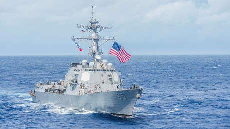 Un buque de guerra de EE.UU. atraviesa el estrecho de Taiwán en medio de las tensiones con China