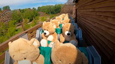VIDEO: Una veintena de osos de peluche 'se divierten' en un parque temático en plena cuarentena