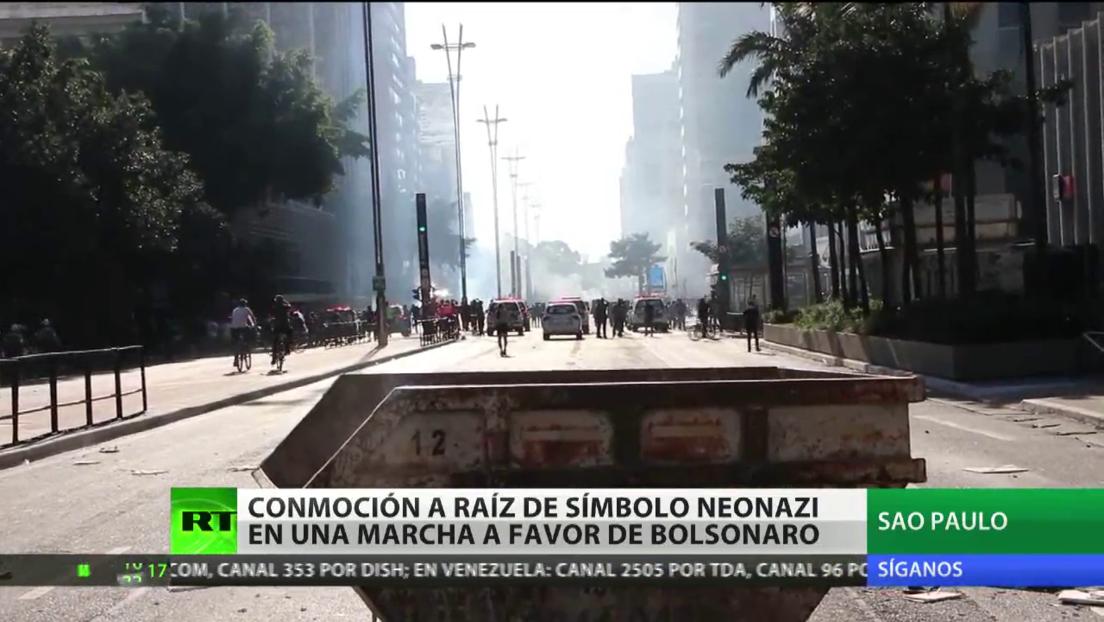 Símbolos neonazis en una marcha a favor de Bolsonaro conmocionan Brasil