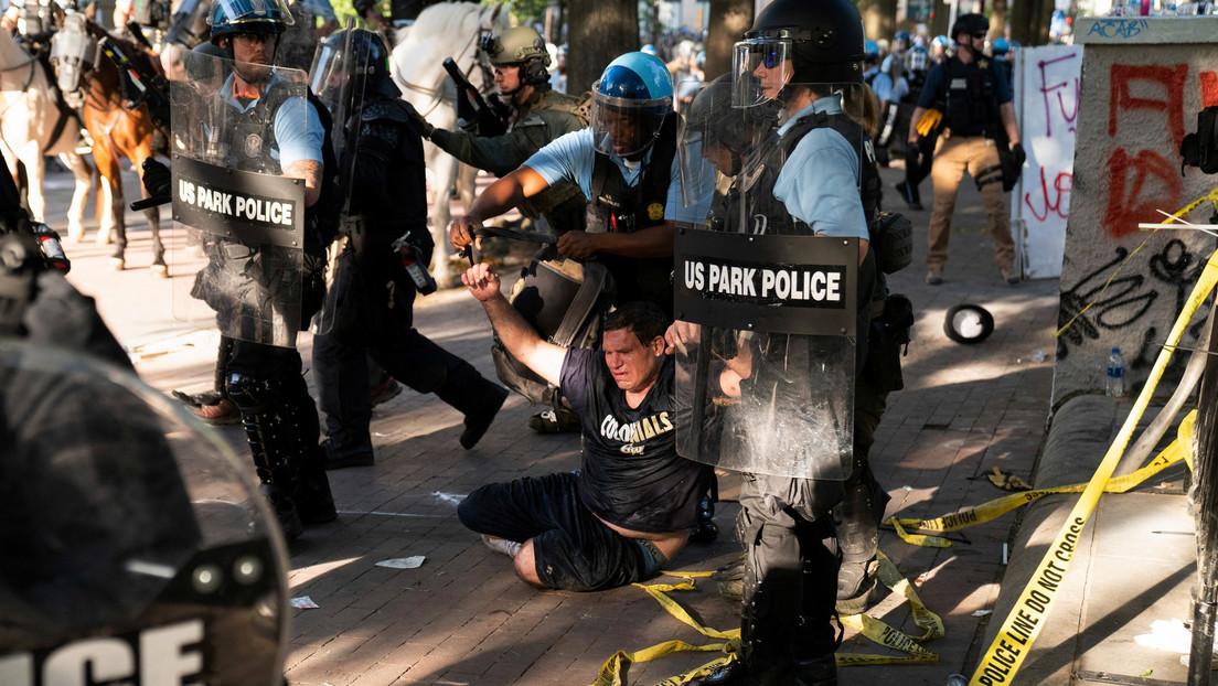 """Trump: """"El Distrito de Columbia no tuvo problemas anoche. Muchos arrestos. Todos han hecho un gran trabajo. Fuerza abrumadora. Dominación"""""""
