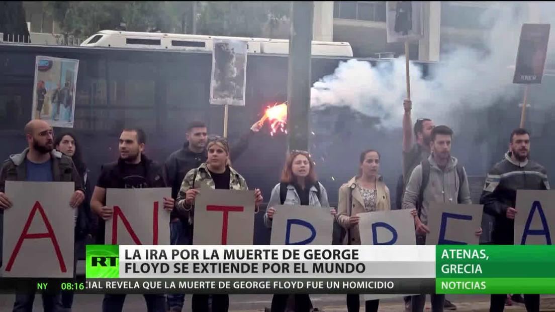 La indignación por la muerte de George Floyd se extiende a otros países