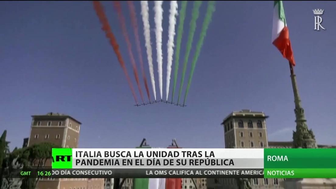 Italia busca la unidad tras la pandemia en el Día de la República