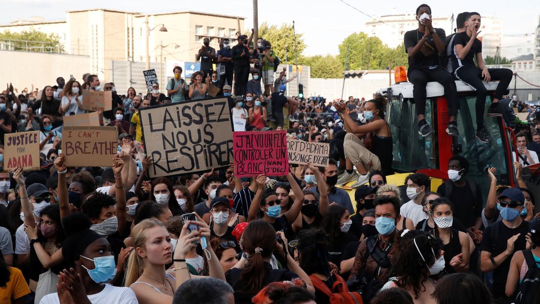 VIDEOS: Multitudinaria protesta contra el racismo y la brutalidad policial en París termina con enfrentamientos con la Policía
