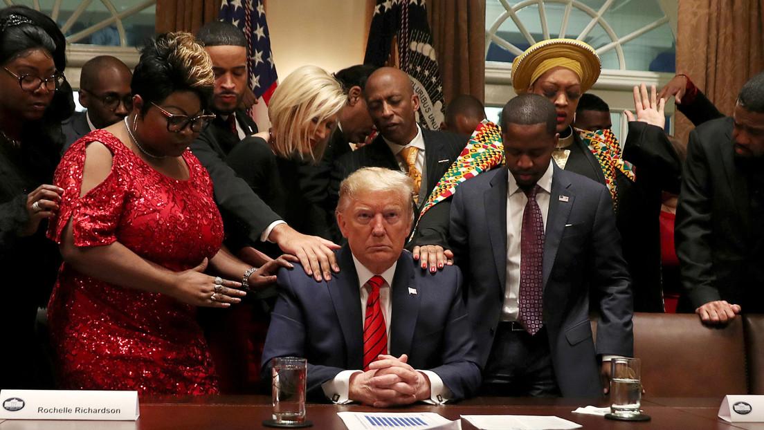 """Trump afirma haber """"hecho más para la comunidad negra que cualquier otro presidente desde Abraham Lincoln"""""""