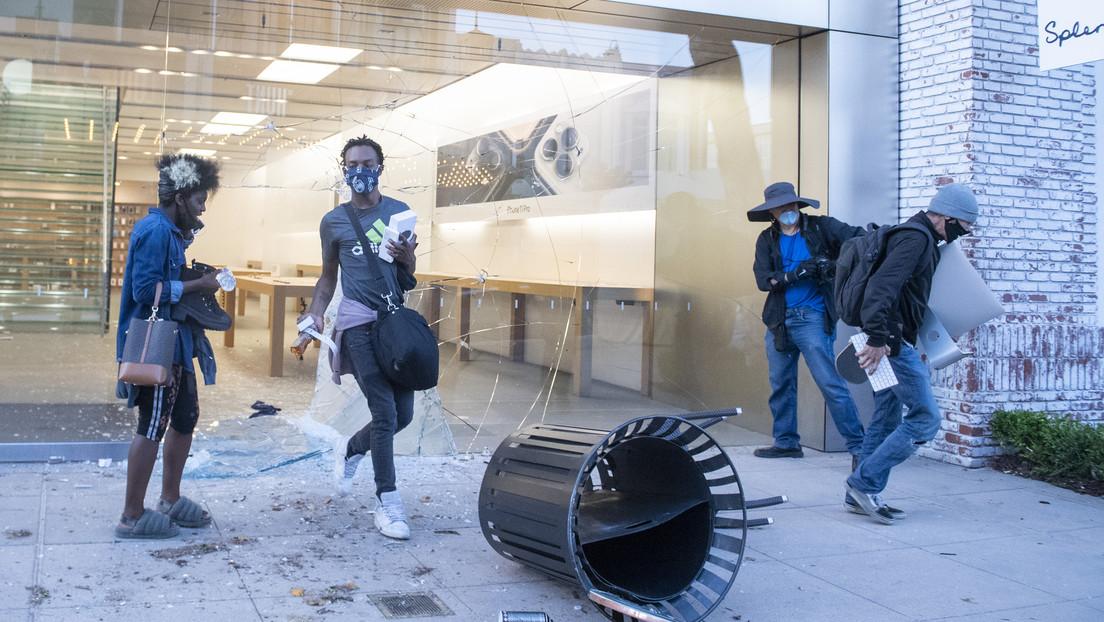 Apple alerta a los saqueadores y desactiva los iPhones robados en medio de los disturbios en EE.UU.