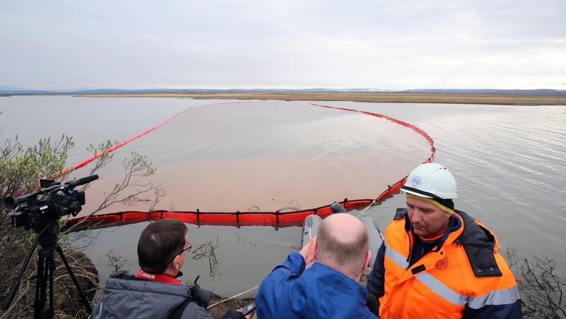 Rusia declara el estado de emergencia federal en una región de Siberia tras el masivo derrame de diésel en una central termoeléctrica