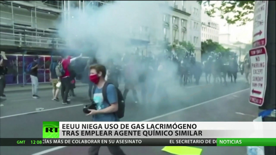 EE.UU. niega el uso de gas lacrimógeno tras dispersar protestas con un agente químico similar