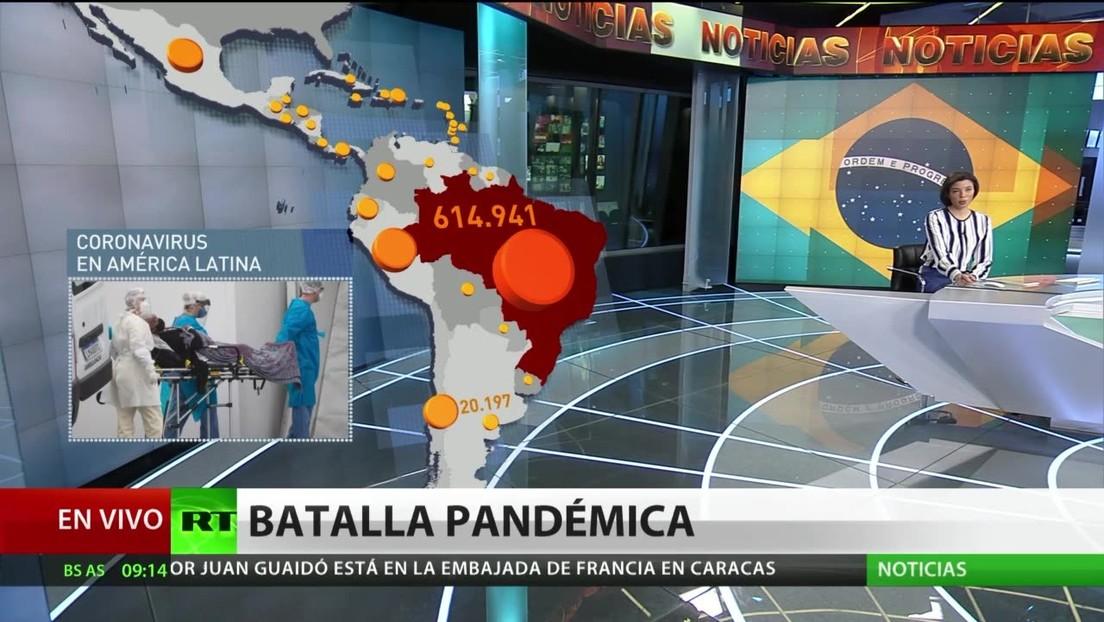 Brasil se convierte en el tercer país del mundo con más muertes por covid-19 y Argentina prolonga la cuarentena en parte de la nación