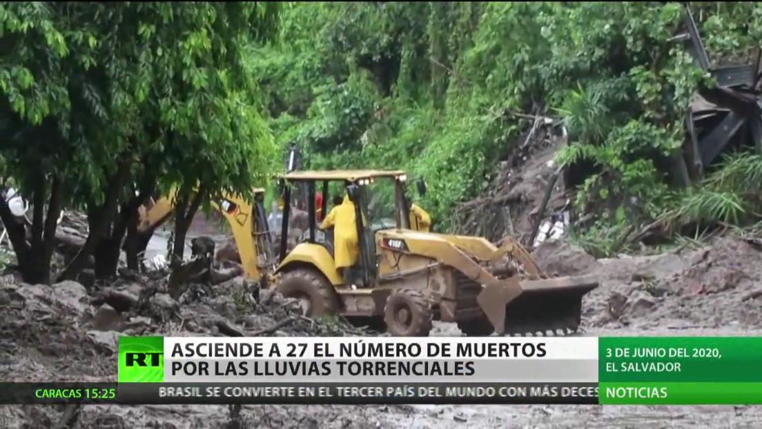 Asciende a 27 el número de muertos por las lluvias torrenciales en El Salvador
