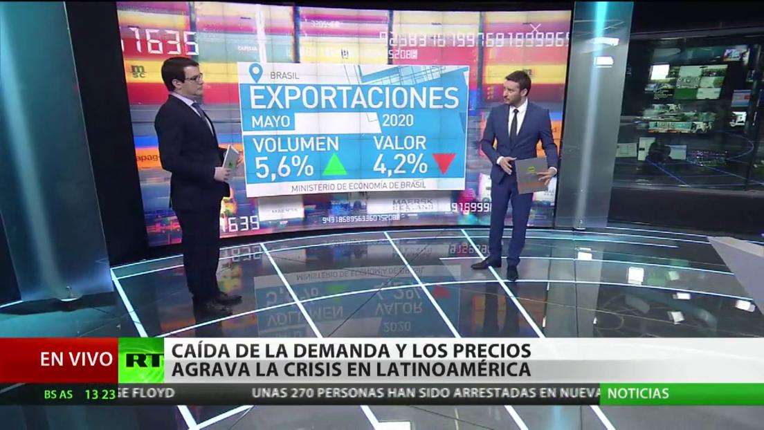 La caída de la demanda y el volumen de las exportaciones agrava la crisis en América Latina