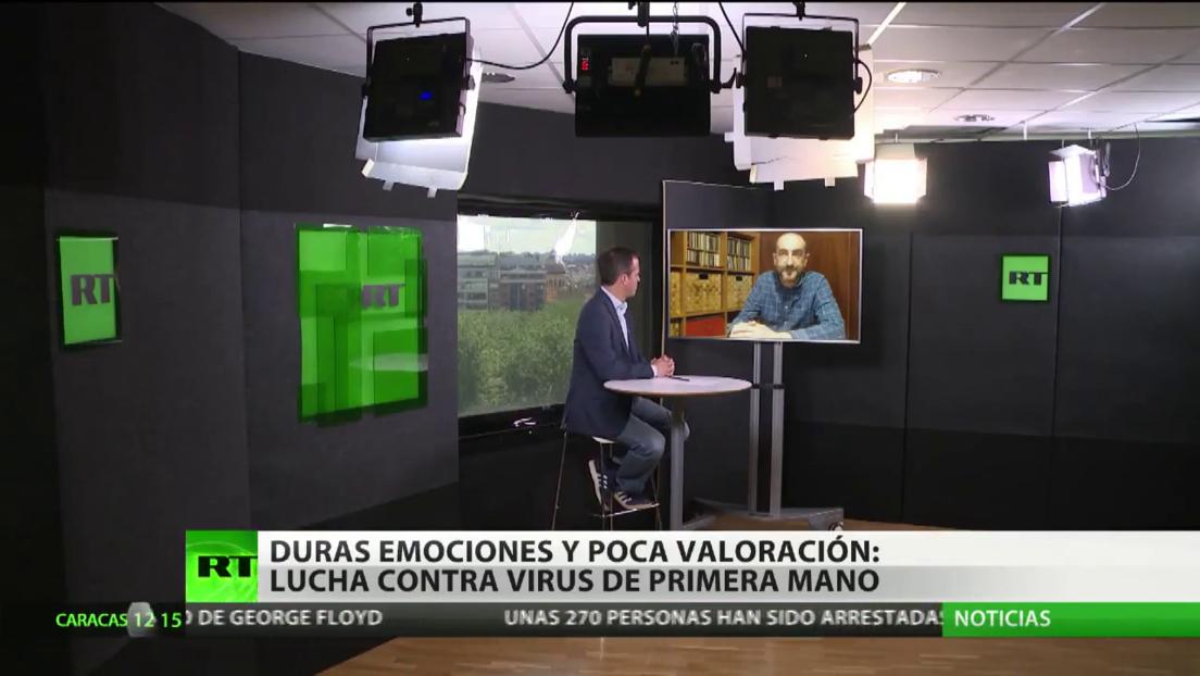 Duras emociones y poca valoración: la lucha contra el covid-19 en España de primera mano