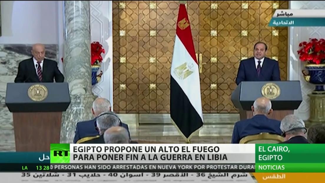 Egipto propone un alto el fuego para poner fin a la guerra en Libia