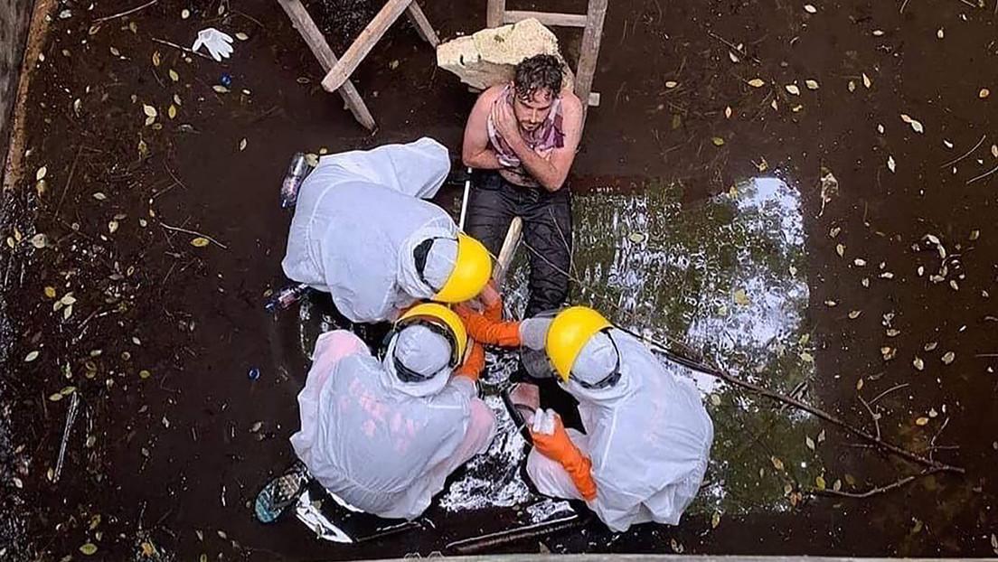 Rescatan a un británico que pasó seis días en un pozo en Bali