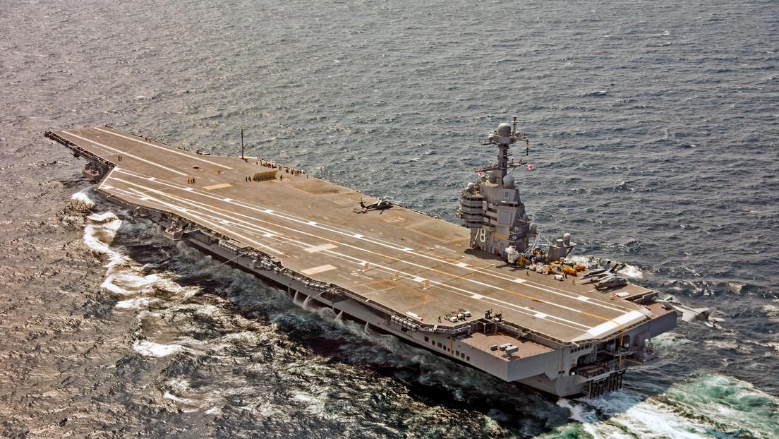 El USS Gerald R. Ford, portaviones más avanzado del mundo, sufre un fallo en sus sistemas para lanzar aviones