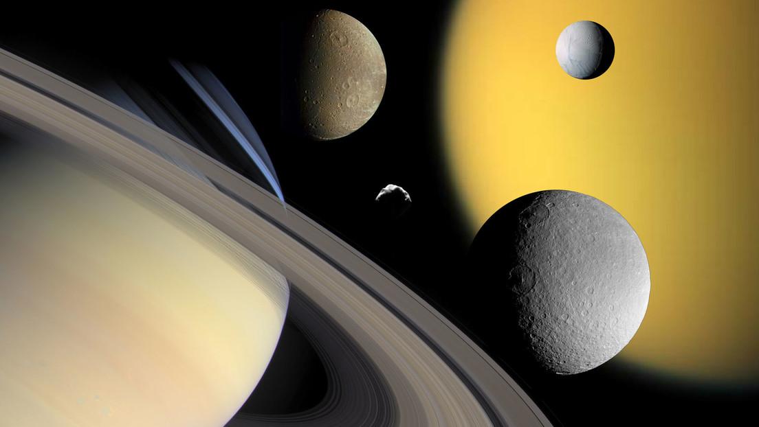 El mayor satélite de Saturno se aleja de ese planeta 100 veces más rápido de lo que se pensaba