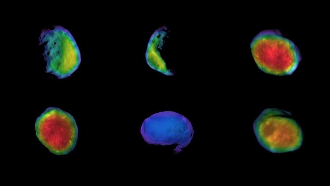 La NASA 'saca los colores' a la mayor luna marciana con una cámara infrarroja