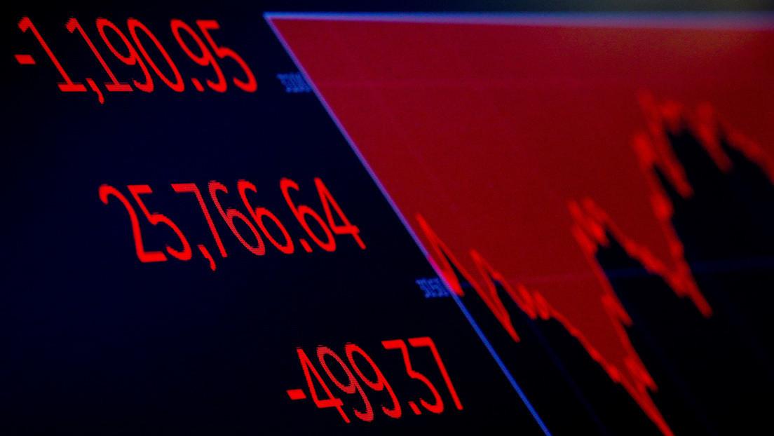 Wall Street vive su peor jornada desde marzo con una caída del Dow Jones del 6,9 %