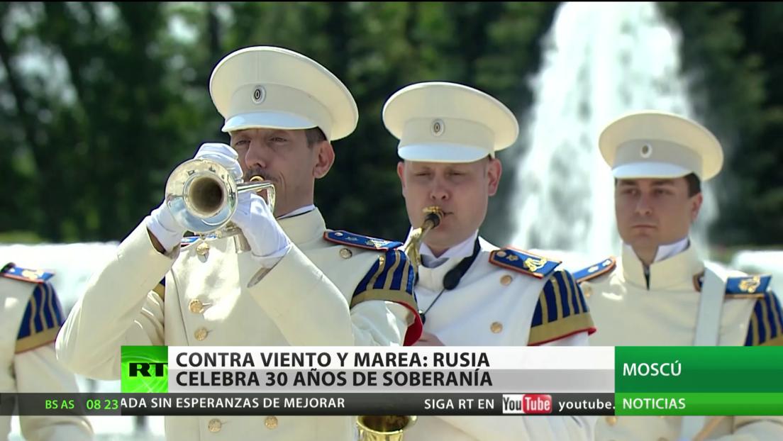 Rusia celebra 30 años de soberanía