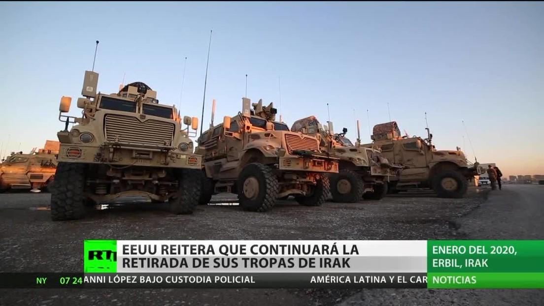 EE.UU. reitera que continuará la retirada de sus tropas en Irak