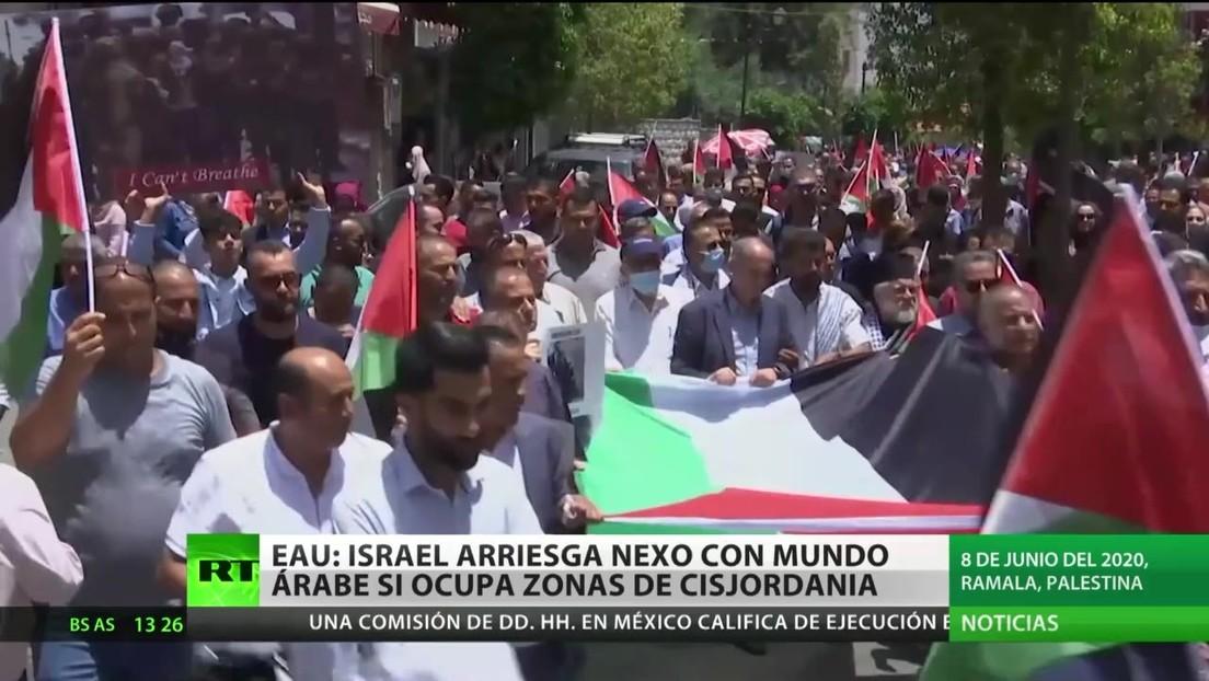 EAU: Israel arriesga nexos con los países árabes si ocupa zonas de Cisjordania