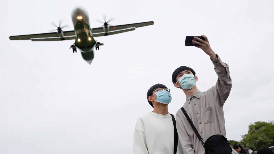 Un aeropuerto de Taiwán ofrece un 'falso viaje al extranjero' para quienes echan de menos las aventuras