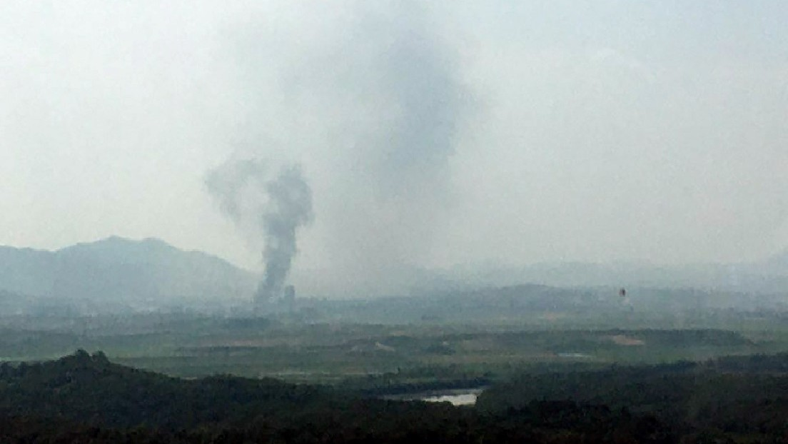 Primeras imágenes luego de que Corea del Norte destruyera la oficina de enlace intercoreana en la zona fronteriza
