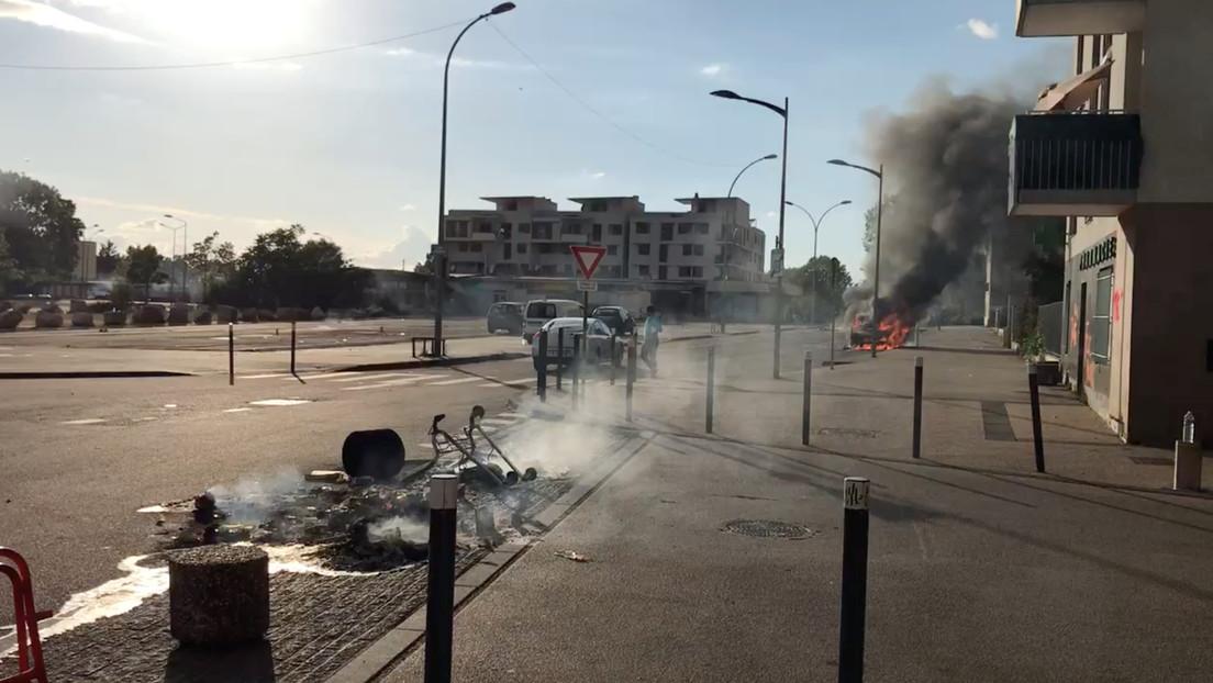 VIDEOS: La ciudad francesa de Dijon vive su cuarta noche consecutiva de violencia callejera por ajustes de cuentas entre bandas rivales