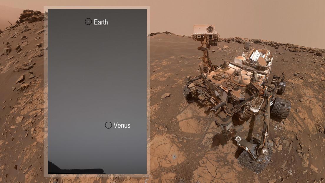 El rover Curiosity captura una imagen del crepúsculo marciano con la Tierra y Venus de fondo