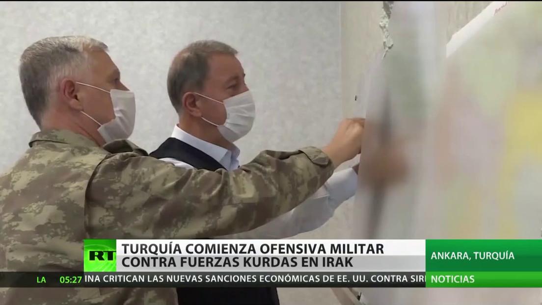 Turquía inicia una operación militar contra fuerzas kurdas en el norte de Irak