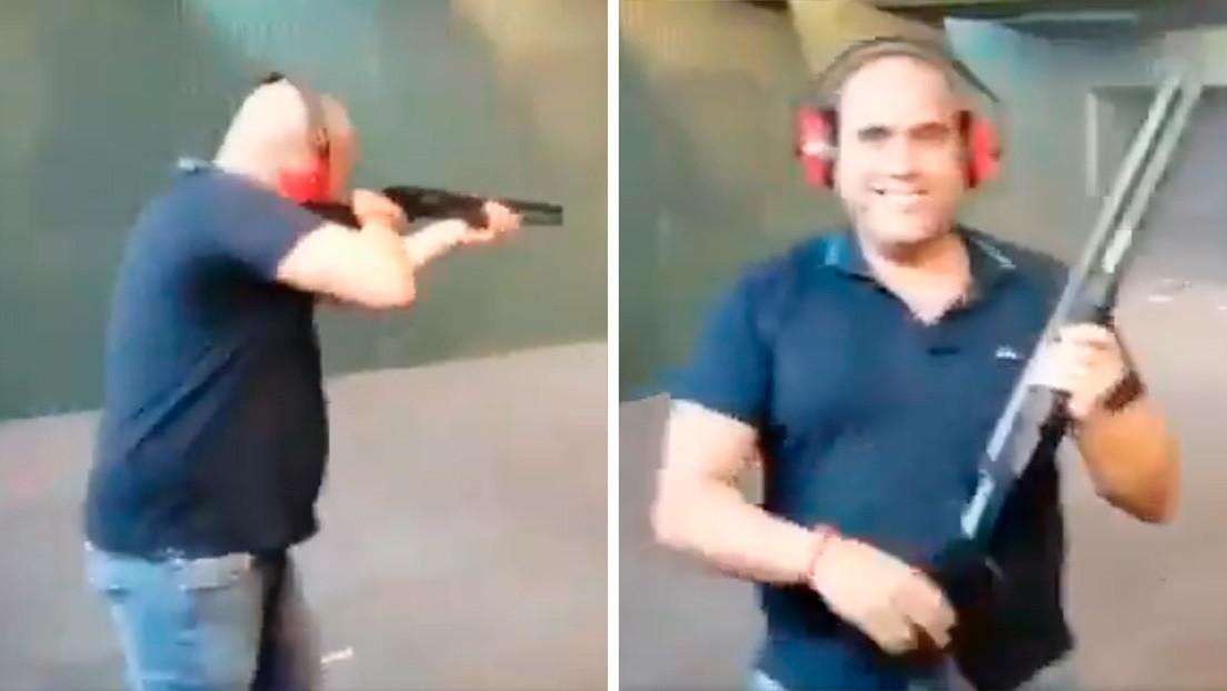 Detienen al hombre que disparó contra fotografías de miembros del Gobierno de España en un fusilamiento simulado