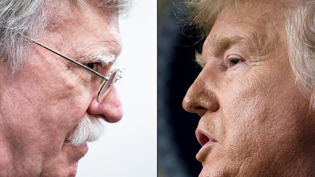 """Trump: """"Bolton debe pagar un precio muy alto por violar la ley y difundir volúmenes masivos de información clasificada en su libro"""""""