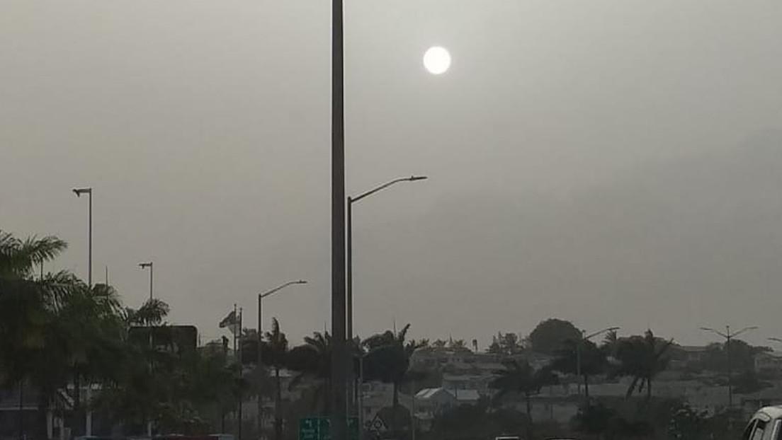 FOTOS, VIDEO: Una enorme nube de polvo procedente del Sahara cubre el Caribe