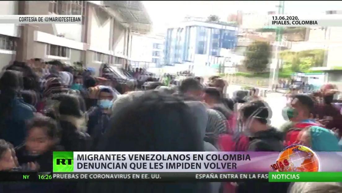 Migrantes venezolanos en Colombia denuncian que les impiden volver a su país