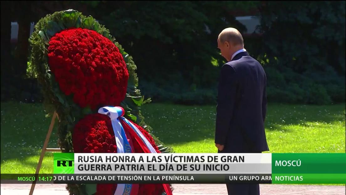 Rusia rinde homenaje a sus víctimas de la Gran Guerra Patria en el Día de la Memoria y el Duelo
