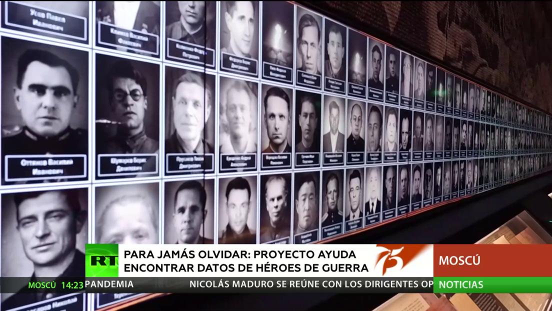 Para jamás olvidar: Un proyecto ayuda a encontrar datos de héroes de guerra