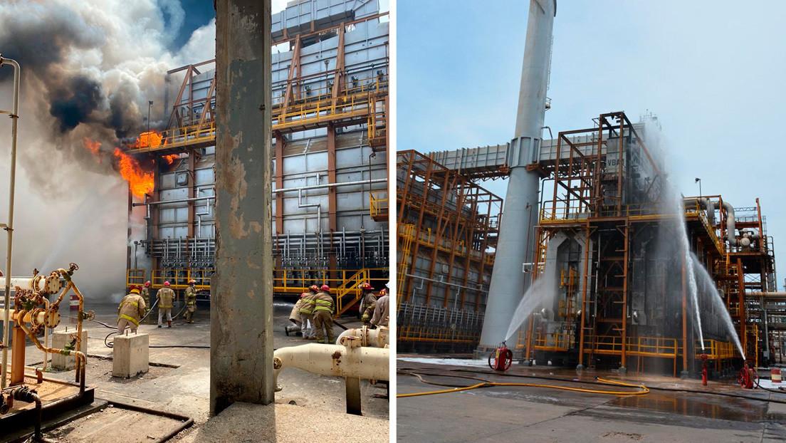 Pemex reporta un lesionado por el incendio en una refinería tras el fuerte sismo en México