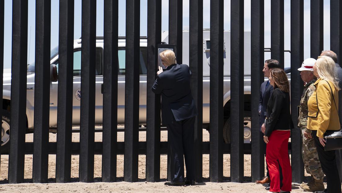 """Trump afirma que el muro fronterizo """"detuvo el covid"""" en Arizona, estado que rompe el récord de casos de coronavirus"""