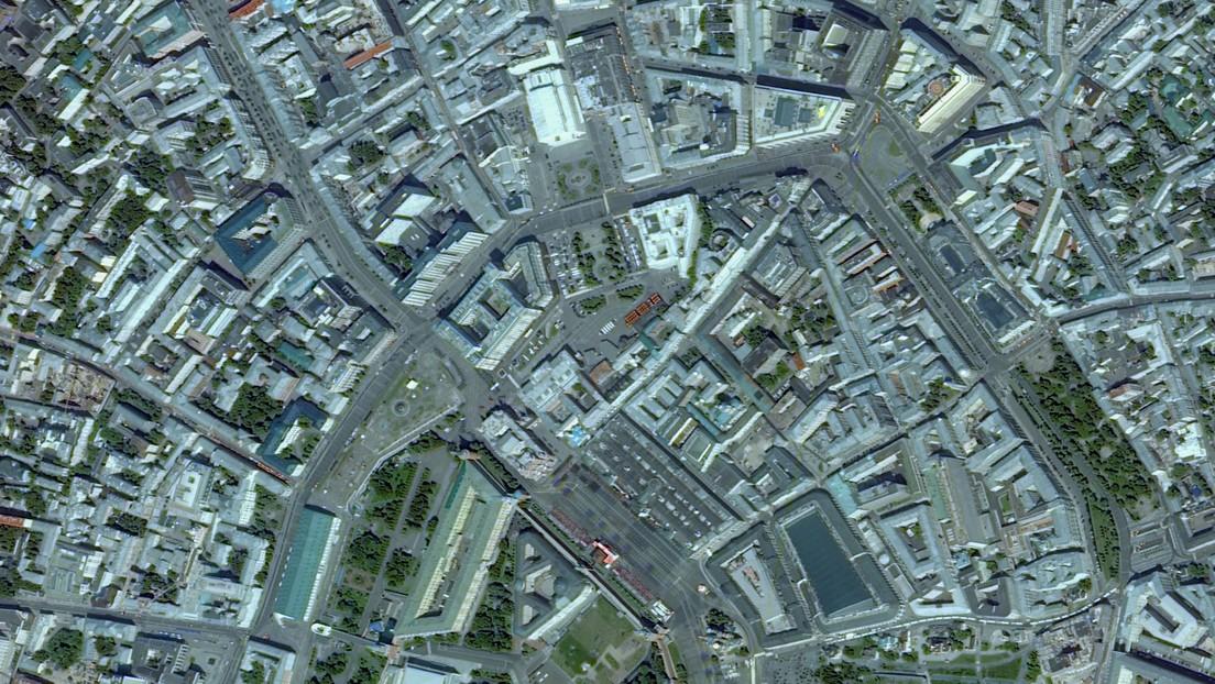 FOTO: El Desfile de la Victoria por la Plaza Roja, a vista de satélite